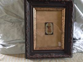 Framed EARLY playing card