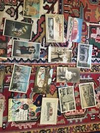 Huge lot of vintage post cards and greeting cards