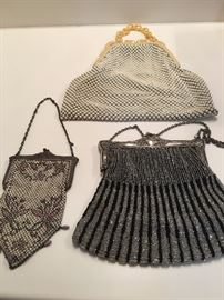 Vintage mesh purses