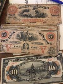 Hamburg Bank Notes circa 1800's