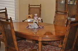 Darling Formal Dining Set with table (1 leaf) 5 chairs, china cabinet
