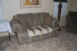 Loveseat, Small Yei Rug