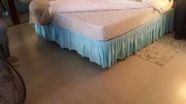 For king mattress, box spring and frame, please call me to see it.  (702) 588-3800.  $100.00.