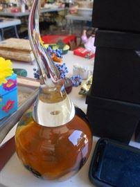 Hand blown glass, perfume bottle