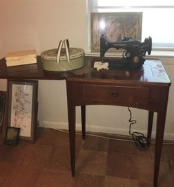 Antique Singer with Cabinet