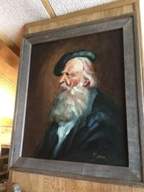 "Evocative oil painting of older bearded man... ""sailor home from the sea"", or ""the hunter home from the hill""...perhaps"