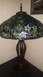 Gorgeous large Tiffany style lamp. (There are a pair of these)