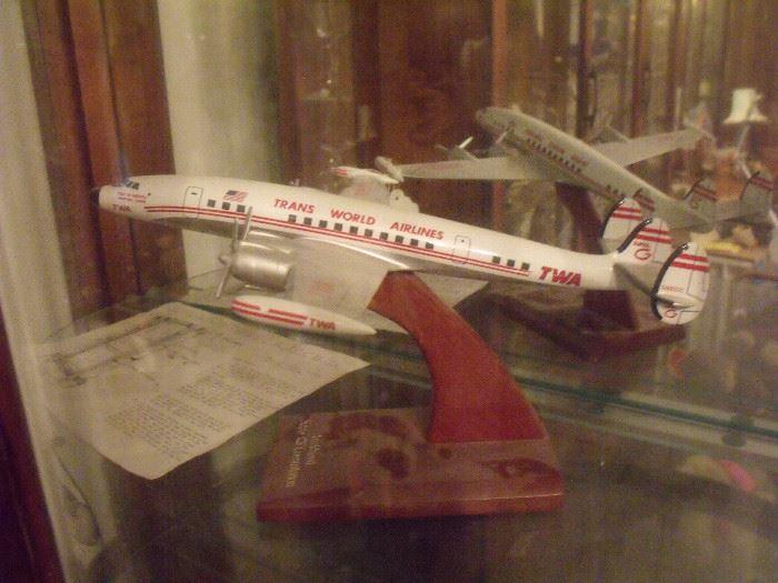 TWA model airplane!