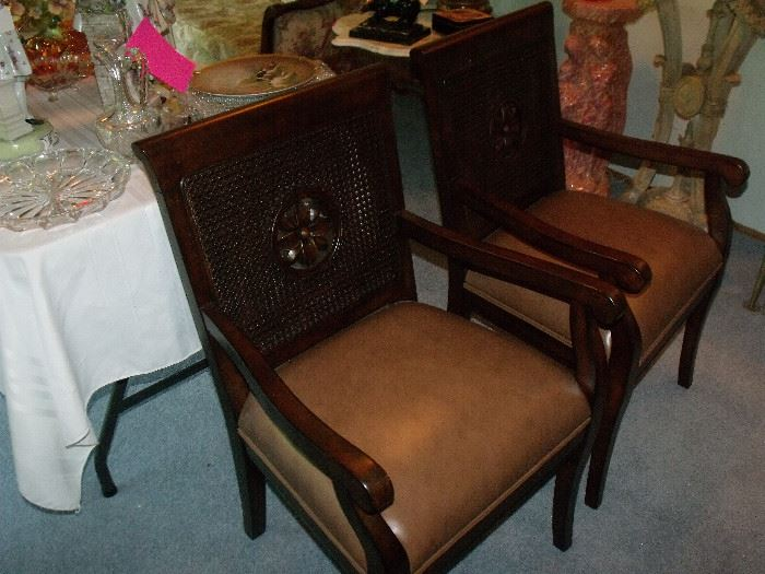 Pair stately chairs