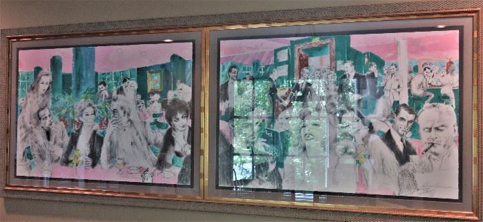 """LeRoy Neiman """"Polo Lounge"""" # 480/700 2 Piece Framed Picture"""