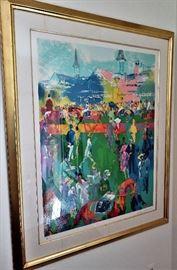 "LeRoy Neiman Serigraph ""Derby Day Paddock"" # 50/250"
