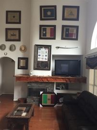 """View of Family/Living Room showing """"Love of Texas""""!!"""