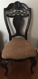 Mollai Collection Dinning Side Chairs with Cabriole Legs and Cushion Seat.  (1 of 4 shown)