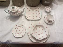 "SHELLEY ENGLAND ""ROSEBUD CHINA SERVICE FOR 12"