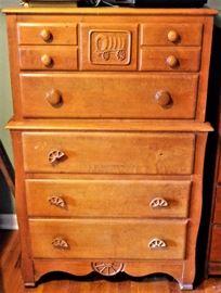 5 Drawer Pine Chest w/Matching Desk