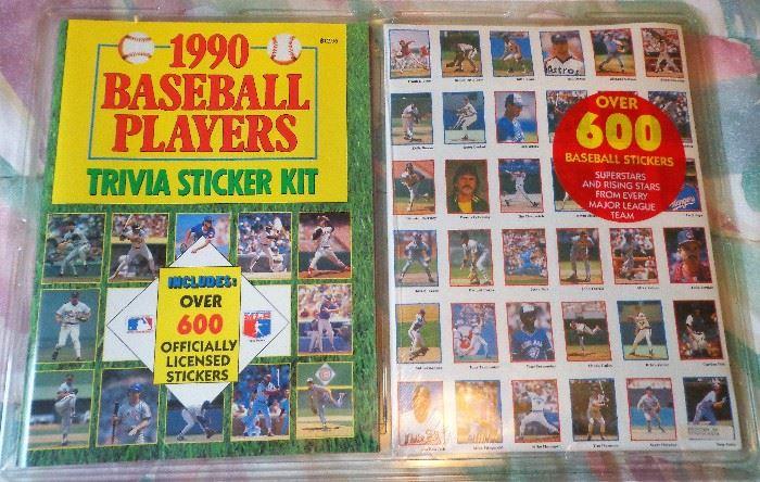 1990 Baseball Players Trivia Sticker Kit