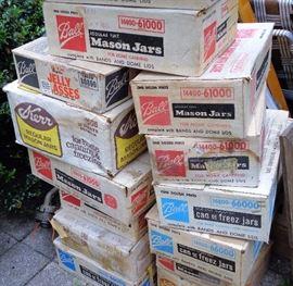 Mason Jars in Boxes