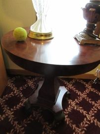 Newer pedestal side table