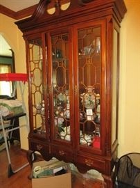 Beautiful display cabinet filled with treasures