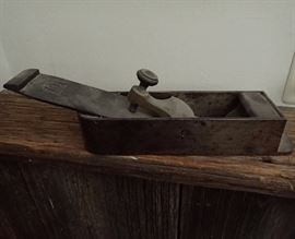 VINTAGE METAL & WOOD HOLLAND LONDON / SORBY CAST STEEL PLANE