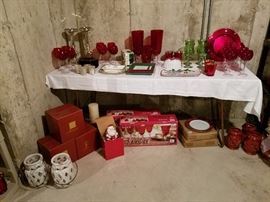 Lots of red glassware
