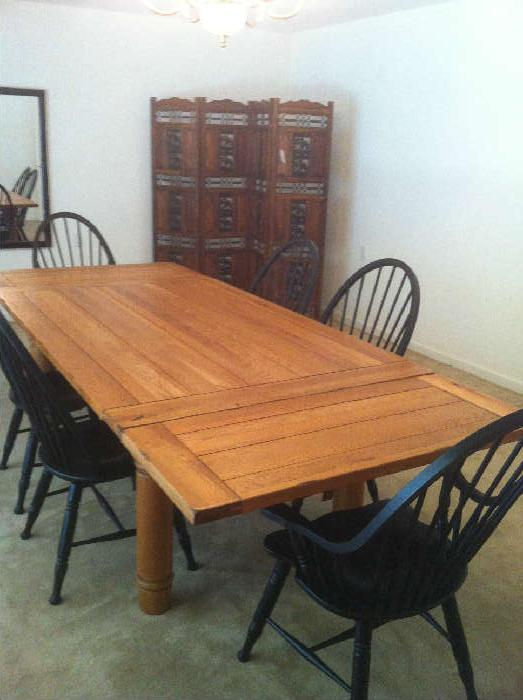 Bassett table and Windsor chairs