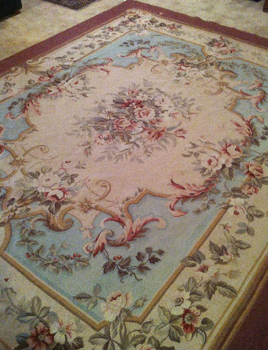 French Aubusson antique rug  8 x 10 $2,000 View 1