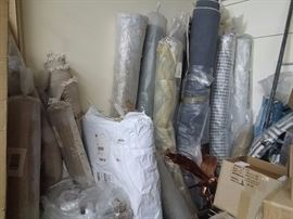 Lots of wonderful rolls of fabric