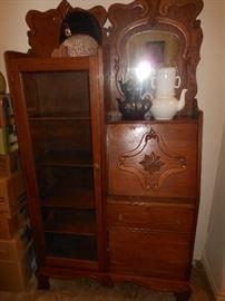 Antique drop front secretary/bookcase