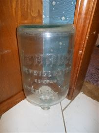 Embossed glass water jug