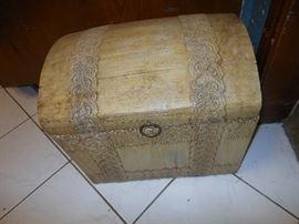 Vintage decoupage trunk