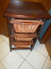 3 basket storage/ we have 2