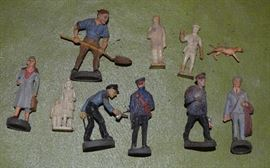 Plastic figures made in Germany