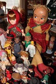 Madame Alexander, Barbie, Effanbee, Eegee, Horsman, Seymore Mann, American Character, Shirley Temple, Americana, Crowne, Revlon, Vogue, Betty Boop, Patsy Anne, Disney, Kewpie, American Girl & many more