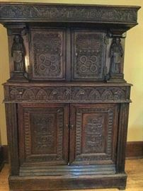 Unbelievable hand carved statement piece 18th century from England. More history re this piece