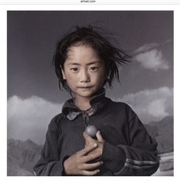 Photo by Phil Borges artist.Yama 8, Lhasa, Tibet 1994. Signature on back.