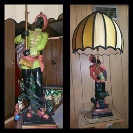 Blackamoor/Nubian Lamps (One male, one female)