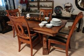 Formal dining room, two leaves available.