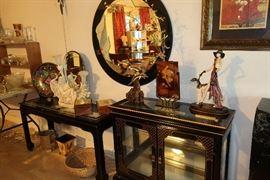 Black lacquer furniture