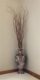 Luxury Vintage Hand Painted Chinese Floor Vase