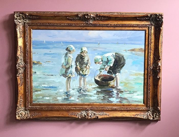 Clam Diggers (Reproduction Painting)