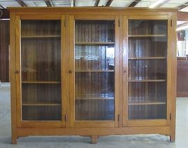 "Oak Bookcase 61""H X 76""W"