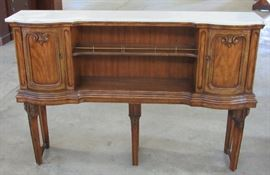 Unusual 6-Legged Buffet w/Marble Top