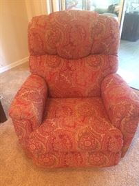 One of Two coordinating Lazy Boy recliners