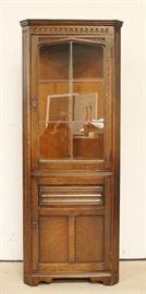 Continental corner cabinet