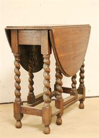 English barley twist oak table