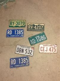 Vintage License Plaes