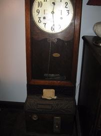 Vintage International Oak Punch Time Clock