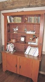 Great two piece open top hutch cupboard. Indiana County Pennsylvania.