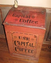 Floor coffee bin.